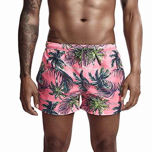Karinao - Bañador para hombre con estampado, para verano, multicolor, secado rápido, bermuda, bañador...