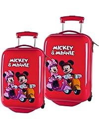 Disney Mickey & Minnie Equipaje Infantil, 59 Litros, Color Rojo