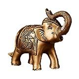 Feng Shui Kunstharz Elefant Ganesha Statue Symbol der Kraft Kraft Glück Haus Büro Dekor, Kunstharz, Bronze