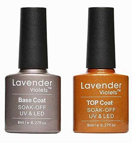 Lavender Violets® UV/LED Soak Off Base Coat and Top Coat