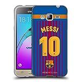 Head Case Designs Offizielle FC Barcelona Messi 2017/18 Spieler Home Kit Gruppe 1 Soft Gel Hülle für Samsung Galaxy J3