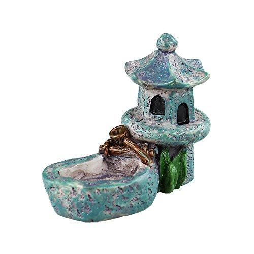 Danmu Art Mini Kunstharz Pavilion mit Einem Teich Miniatur House Fairy Garden Micro Landschaft Home Garten Dekoration Blumentöpfe Bonsai Craft Decor