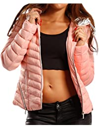 Young-Fashion Women's Quilted Plain Long Sleeve Jacket