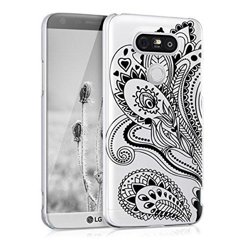 kwmobile LG G5 / G5 SE Hülle - Handyhülle für LG G5 / G5 SE - Handy Case in Paisley Blume Design Schwarz Transparent