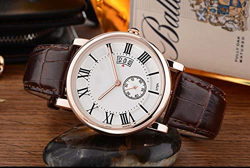 Liandd Beiläufige Kleid-Art- und Weisewasserdichte Armbanduhr-Frauen-Goldquarz-Uhr-Damen-Kalender-Funktions-weibliche Uhren,Gold White