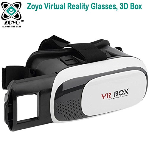 Zoyo VR BOX 2.0 Virtual Reality Glasses, 3D VR Headsets for 4.7 To 6 Inch Screen Phones Compatible With iphone 4S, iphone 5s, IPhone 6 / 6 S , Samsung, Motorola, Sony, Oneplus, HTC, Lenovo, Nokia, Asus, Lg, Coolpad, Xiaomi, Micromax.(For Gaming/Video watching)