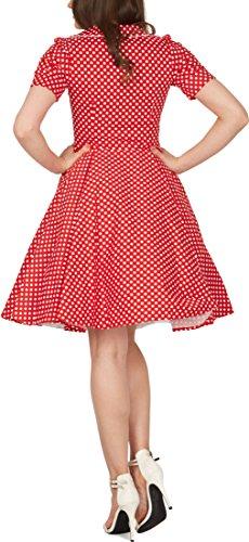 'Sabrina' Vintage Polka-Dots Kleid im 50er-J-Stil - 3