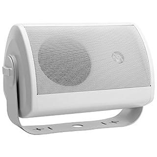 Pronomic OLS-10 WH DJ PA Outdoor-Lautsprecher für Garten, Terrasse, Restaurant (100 Watt, Schutzart IP56, 8 Ohm, 5.25