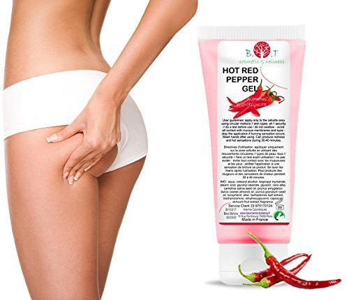 HOT Gel Peperoncino Trattamento Bruciagrassi Anti Cellulite Dimagrante Capsaicina 227 ml