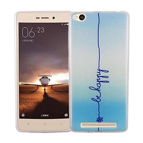 Handy Hülle Cover Case Schutz Tasche Motiv Slim Silikon TPU Bumper Schale Etuis, Motiv:DONT TOUCH MY PHONE BÄR, Für Handy:Apple iPhone 7 (4.7 Zoll) BE HAPPY BLAU