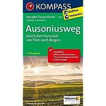 Ausoniusweg, durch den Hunsrück von Trier nach Bingen: Wander-Tourenkarte. GPS-genau. 1:50000 (KOMPASS-Wander-Tourenkarten, Band 2511)