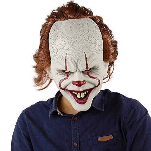King Kostüm Carnival - Clown Maske Stephen King's Es Maske Pennywise Horror Clown Joker Maske Halloween Cosplay Kostüm Requisiten