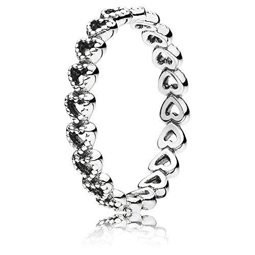 Pandora Ring gereihte Corazones 190980