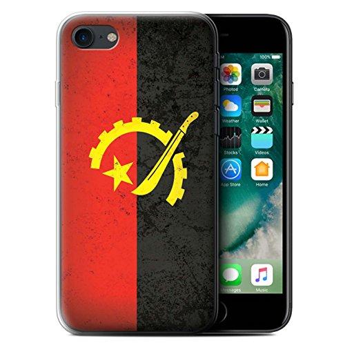 Coque Gel TPU de STUFF4 / Coque pour Apple iPhone 7 / Égypte/Égyptien Design / Drapeau Africain Collection Angola/Angolais