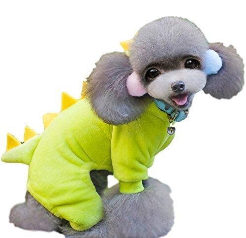 nd Katze Fleece Dinosaurier Overall Halloween Kostüm Kleid Outfit S-XXL - Gelb, Extra Large ()