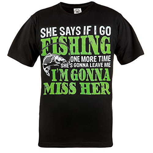 Rule Out T-Shirt hobby. pesca. pesca One More time. I'M ANDANDO MISS pelle donna hobby. angler. casual. dad. grandad. spiritoso. PESCATORE Nero