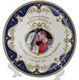 """Royal Wedding Plate - 8"""" Bone China Plate - includes gift tag"""