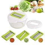 Homgrace Trancheuse de légumes Multifonction Couper Les Legumes Fruit 4 Lames en Acier Inoxydable