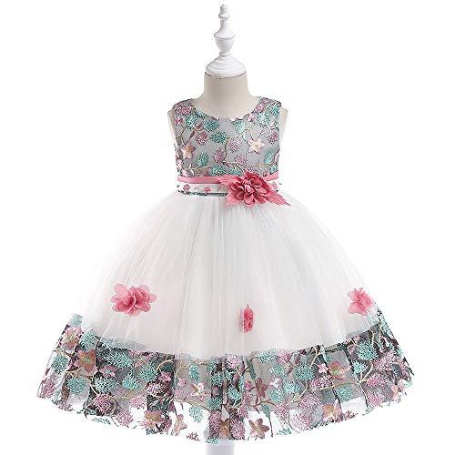 (Mädchen Prinzessin Kleider | MEIbax Floral Baby Prinzessin Hochzeitskleid Weihnachtenkleid Partykleider Brautjungfer Pageant Kleid Formelle Kleidung)