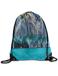 DANCENLI Fashion Gym Marble Caves of Lake General Carrera Chile South American Natural Drawstring Gym Sack