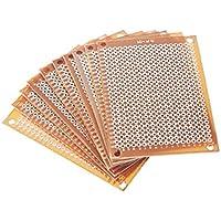 ToGames-ES 10 Unids DIY Prototype Paper PCB Placa de Circuito de Matriz de Experimentos Universal 5x7cm