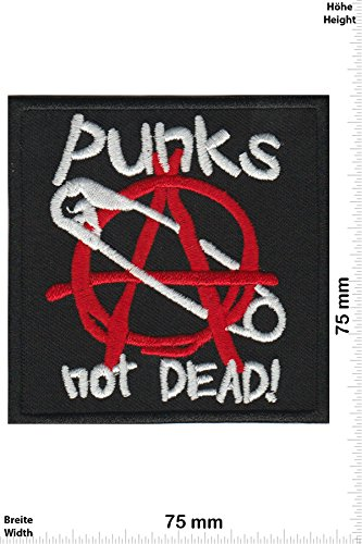 Patch-Iron-Punks not Dead! - Sicherheitsnadel - - Punks - No Nazi - Punk - Iron On Patches - Aufnäher Embleme Bügelbild Aufbügler