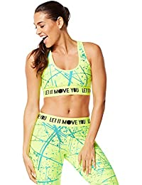Zumba Fitness Damen Wt Hyper Melt Metallic Scoop Bra