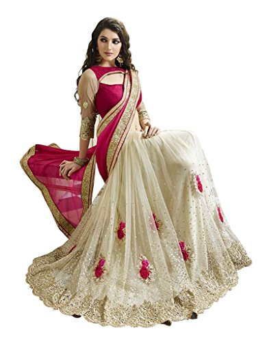 158a1d4ce1 23% OFF on SARGAM FASHION Women's Georgette Saree With Blouse Piece  (Srmbpinkcord) on Amazon | PaisaWapas.com