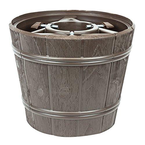 Kit vaso supporto porta albero di natale Planet diametro 345 colore marrone
