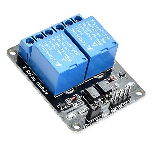 Yizhet 2 Kanal Relais Modul 5V DC 230V Optokoppler 2 Channel Relay für Arduino TTL Logik PIC DSP AVR ARM Relais Modul-Brett Raspberry Pi (2 Kanal)
