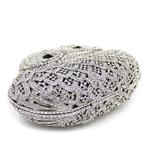 Eule Luxus Diamond Abendtasche Frauen bevorzugten Handtasche Hochzeitsfeier Kupplung Geldbeutel A