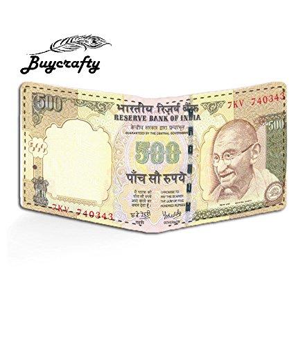 buycrafty indischen Old 500Rupie Note Währung Einbruchfalz Leinwand Wallet Old Design (Indische Währung)