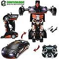 Comtechlogic CM-2179 2,4 GHZ Bugatti Veyron Rc Ferngesteuert Bumblebee Transformers Driftende Auto & Robot mit einem berührung verwandelbar - Schwarz & Orange von Comtechlogic Ltd