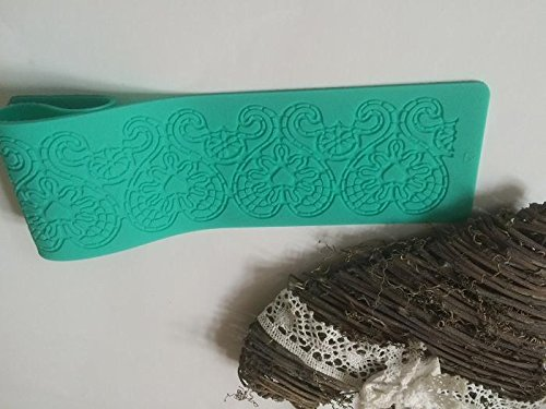 Silikon matte essbare Spitze Tortendeko Cake Lace Ausstechform Fondant Mould Ausstecher 224 (Decor Frozen Cake)