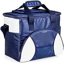 INTEY Bolsa Térmica Porta Alimentos Nevera Portátil 20L para Camping, Azul