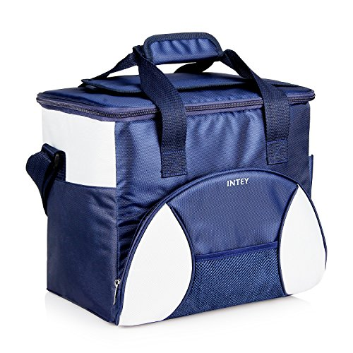 INTEY Kühltasche 20L Kühlbox Camping Isoliertasche Kühlkorb Thermotasche Campingtasche Isolierbox Picknicktasche in Blau