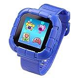 Jeu Enfants Smart Watch pour Enfants Garçons Filles Jouets Montre Poignet avec Écran Tactile Appareil Photo Jeux Timer Réveil Podomètre Smartwatch Wristwatch Wristband (Bleu)