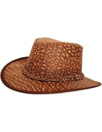 8383d10dbdcd4 Bushwacker Cañonero Africano Buffalo Sombrero de Piel con Trenzado Banda
