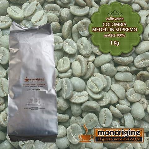 Caffè Verde in Grani Colombia Medellin Supremo 1 Kg - Caffè Monorigine Arabica 100%