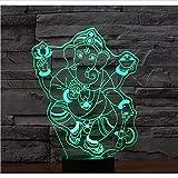 Ytdzsw Wie Gott Elefant Mit 7 Farben Licht 3D Led Nachtlicht Für Dekoration Lampe Erstaunliche Visualisierung Optisch