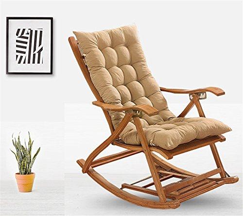 Ommda Hochlehner Sitzauflagen für Gartenmöbel Hochlehner Polsterauflage Hochlehner Auflagen 4er Set 8cm Kamel 120x50x8cm