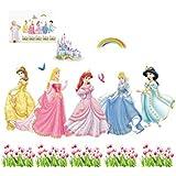 IMBS 3D pegatinas de pared de la princesa DISNEY ART personaliseitonline dodoskinz globalpowder vinilo Murales de decoración para el hogar ideal para dormitorios cuarto