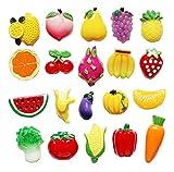 Creative Fridge Magnet Stickers Ensemble d'aimants de réfrigérateur pour fruits de légumes (20 PCS)