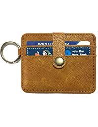 Printelligent Brown Leather Card Holder For Men And Women
