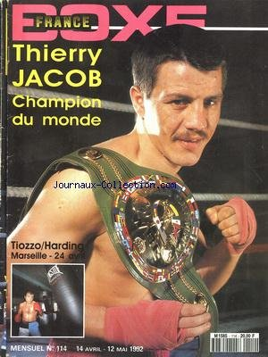 FRANCE BOXE [No 114] du 14/04/1992 par COLLECTIF