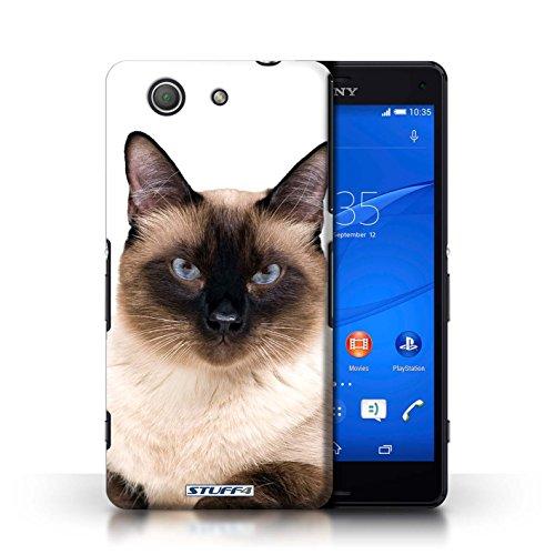Kobalt® Imprimé Etui / Coque pour Sony Xperia Z3 Compact / Peterbald conception / Série Espèces de chats Siamois