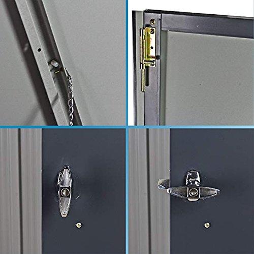 Duramax 5x 3ft Mülleimer Store–Anthrazit Grau/aus weiß - 9