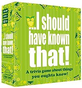 I should have known that! Quiero Que Han Conocido. 21026Sobre Cosas Que Elegir Saber-Juego de Cartas de Preguntas