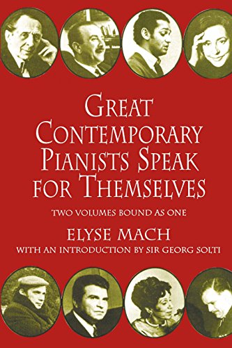 Great Contemporary Pianists Speak for Themselves (Dover Books on Music) (English Edition)