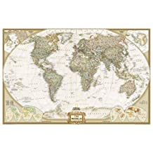 World Executive, enlarged &, tubed Wall Maps World (Reference - World)